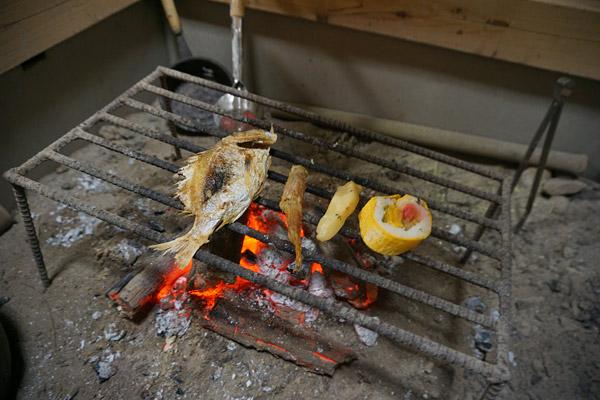 おせち・囲炉裏で焼く