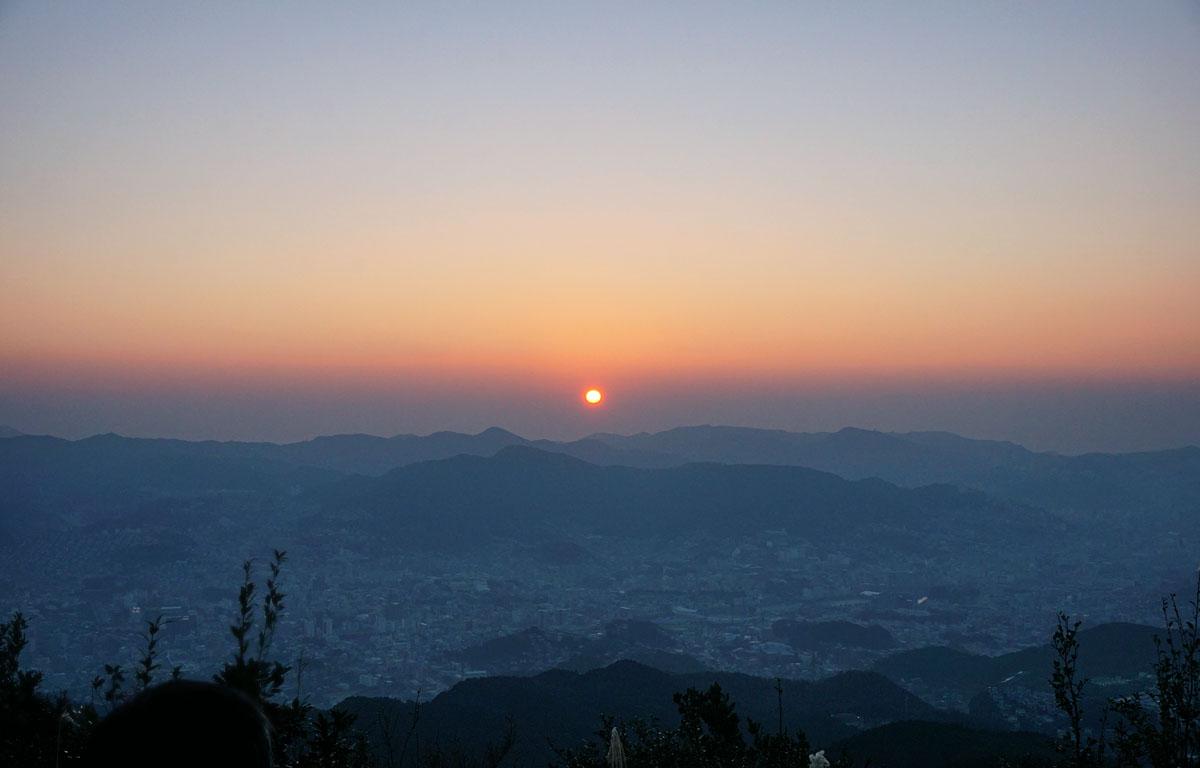 初日の出・長崎・岩屋山山頂より