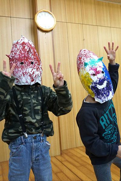 鬼のお面25(絵画教室・習い事)