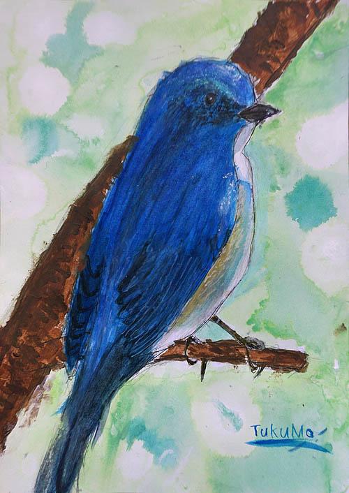 絵画教室・小学生・鳥の絵