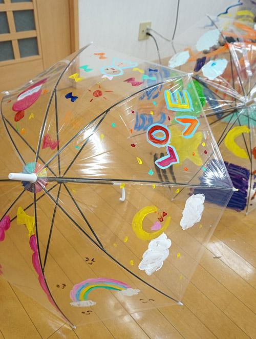絵画の習い事・傘にお絵描き