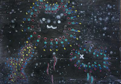 子供絵画教室・花火の絵