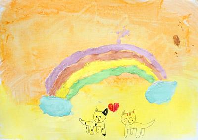 紙粘土絵の具・子供絵画教室3