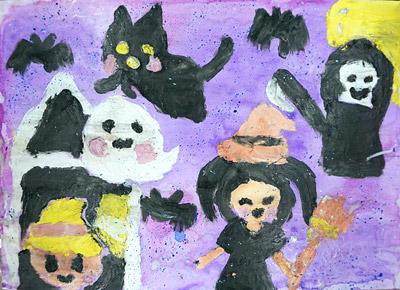 紙粘土絵の具・子供絵画教室4