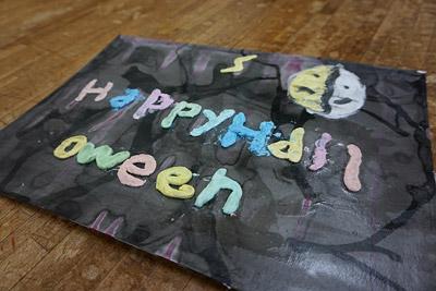 紙粘土絵の具・子供絵画教室5