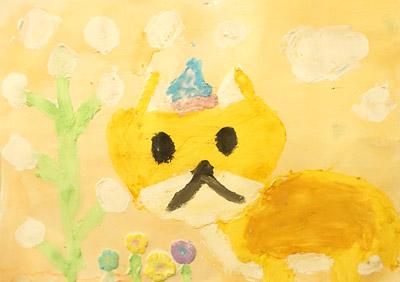 紙粘土絵の具・子供絵画教室6