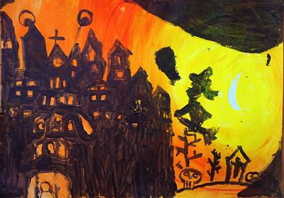 ハロウィンの絵4