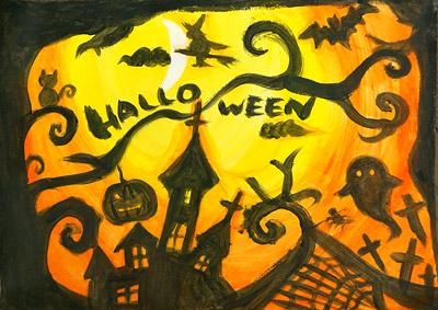 ハロウィンの絵9