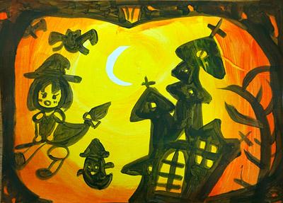 ハロウィンの絵1
