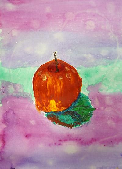 りんご・絵画