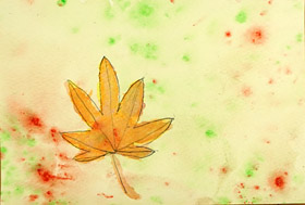 もみじの葉っぱ・子供絵画3