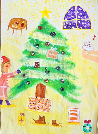クリスマスツリーの絵