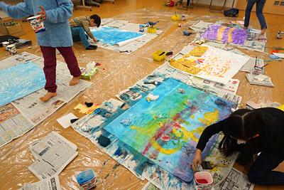 子供実験絵画1
