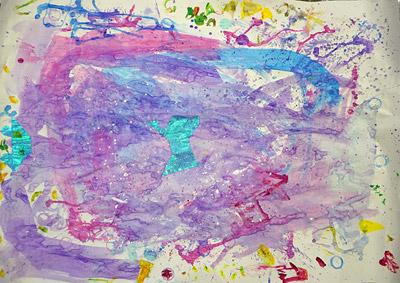 子供実験絵画7