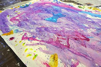 子供実験絵画8
