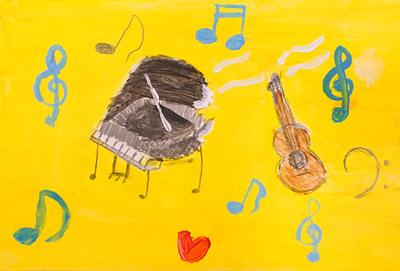 音楽を聴いて想像お絵描き3