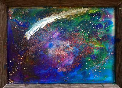 宇宙・子供絵画作品1