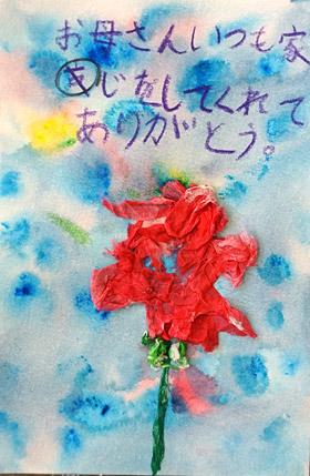 母の日・カーネーション・小学生半立体絵画6