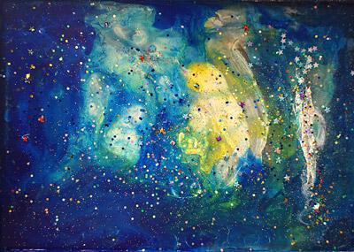 宇宙・子供絵画作品7
