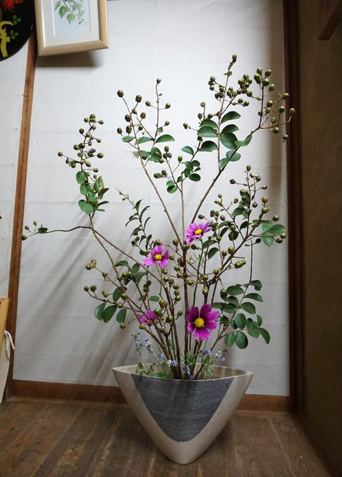 サルスベリの種で生花